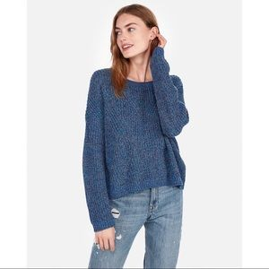 Express Cable Knit Split Back Sweater